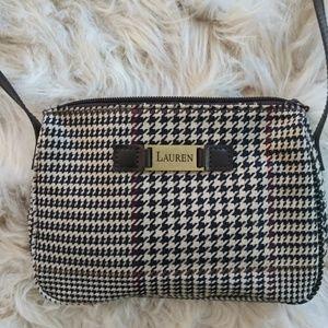 Ralph Lauren houndstooth crossbody purse